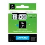 Dymo D1 Label Cassette 9mm x7m (SD40913) - Black on White