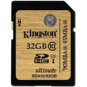 Card memorie Kingston SDHC UHS-I Ultimate 32GB, Clasa 10