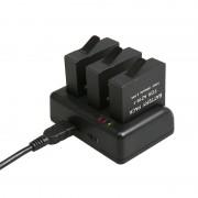 Pour GoPro HERO5 AHDBT-501 Chargeur de voyage avec port V8 et USB-C / Type-C Port et Voyant LED