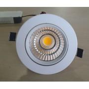SPOT LED INCASTRAT ALB FIX Ø110x60 7W 230V LUMINA CALDA
