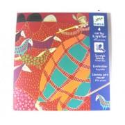 Djeco Scratch Cards - Crimson Elves - 4 Card Set