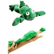 Flingshot Frog Flies With A Crooooaaaak! Just Pull Him Back And Let Him Fly! Flingshot Flying Frog Ages 4 & Up - Slingshot Flying Frog