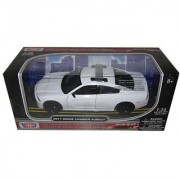 2011 Dodge Charger Pursuit Unmarked White Police Car 1/24 by Motormax 76934