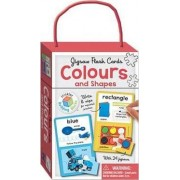 Colours & Shapes Building Blocks - Jigsaw Flash Cards