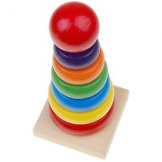 Wooden Children Educational Stacking Toy Rainbow Tower