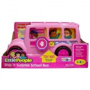 Little People Stop N Surprise School Bus Pink by Fisher Price