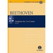 Symphony No 5: Eulenburg+pocket Score AND Audio CD by Ludwig van Beethoven