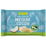 Ciocolata Bio Alba Cristallino cu Cocos Rapunzel 100gr