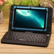Husa Tableta 9 Inch Cu Tastatura Micro Usb Model X , Negru , Tip Mapa