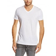 French Connection FC Classic Cotton V Neck S/S-Camiseta Hombre, Blanco (Optical White)