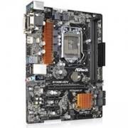Дънна платка ASROCK Main Board Desktop B150 (S1151, 2xDDR4, 1xPCI E x16,2xPCI E 3.0x1, SATA III, GLAN, DVI, HDMI, USB3.0) mATX retail, B150M_HDV_3Y