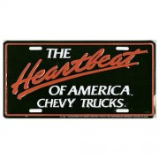 """""""USA Novelty Number Plate - Chev Heartbeat - Chevy Trucks"""""""