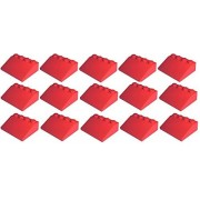 Lego City - red Slope 33 3 x 4 (Pack of 15) - loose parts