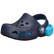 Crocs Hale - Zuecos de Goma, Niños, Azul (Navy/Electric Blue), 19-20