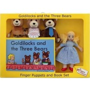 Goldilocks and the Three Bears Finger Puppets & Book Set by The Puppet Company