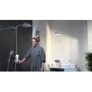 Set de dus Hansgrohe gama Raindance Select E 300, 3 functii ST Showerpipe, alb/crom