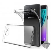 Housse Etui Coque Silicone Gel Fine Pour Samsung Galaxy A3 (Version 2016) + Verre Trempe - Tpu Transparent