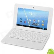 """712 10"""" Android 4.2 Netbook w/ RJ45 / Wi-Fi / Camera / HDMI - White"""