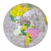Inflatable, great quality, Clear Political Globe (16 inflated Diameter) by Jet Creations
