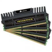 Corsair CMZ32GX3M4A1600C9 Vengeance 32GB (4x4GB) DDR3 1600 Mhz CL9, Noir