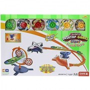 Little Treasures Target Game Spinning Top Spin Launch Aim & Shoot Target Practice Education Game Fun for Kidss