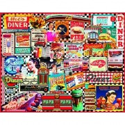 White Mountain Puzzles Diners - 1000 Piece Jigsaw Puzzle