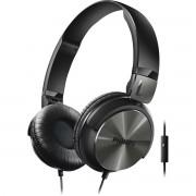 Philips SHL3165BK/00 Fone de Ouvido Estilo Dj com Graves Nítidos e Microfone Integrado Preto
