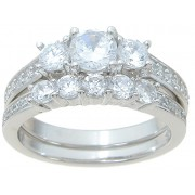 Inexpensive Believable Cubic Zirconia Bridal Wedding Engagement