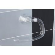 Suport inelar prosoape cu ventuza-Transparent