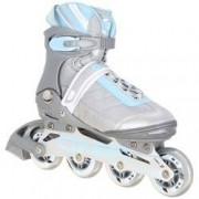 Oxer Patins Oxer Magma - In Line - Fitness - ABEC 7 - CINZA/AZUL