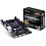 Gigabyte GA-F2A68HM-H Micro-ATX Motherboard - AMD A68H Chipset, FM2+ Socket, DDR3 2400MHz (OC), Gigabit LAN, PCIe 3.0 x16, USB 3.0, HDMI - GA-F2A68HM-H
