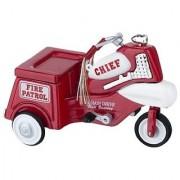 Dollhouse Miniature Fire Chief Trike Pedal Car