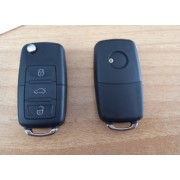 Carcasa telecomanda compatibila VW tip briceag 3 butoane
