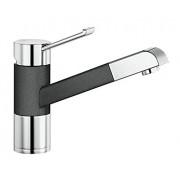 Blanco Zenos-S 517 819 - Grifo de presión alta, color negro y plateado