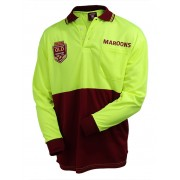 QLD L/S State Of Origin Work Polo - 3XL