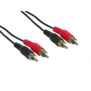 E + Câble audio stéréo 2 fiches RCA - 2 fiches RCA 15m (Import Allemagne)