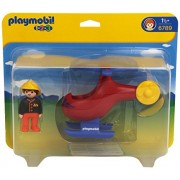 PLAYMOBIL Fire Helicopter Rescue Playset