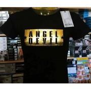 Angel Devil T-shirt uomo Angel Devil manica corta girocollo con stampa ORO