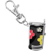 Schlüsselanhänger Taschenanhänger Uhr Handyform Miniaturuhr Federklappdeckel
