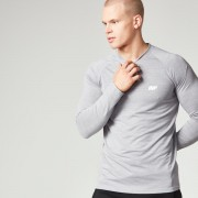 Myprotein Men's Performance Long Sleeve Top, Grey Marl, L