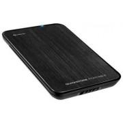 """Carcasă Hard Disk Sharkoon QuickStore Portable 2,5"""" SATA USB, aluminiu mat, negru"""
