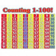 TEACHERS FRIEND COUNTING 1-100 MATH WALL CHART (Set of 12)