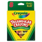 Crayola Llc Products Triangular Anti Roll Crayons, Nontoxic, 8/Bx, Assorted Sold As 1 Bx Crayola Triangular Anti Roll Crayons Are Ideal For Student Art Projects. Triangular Design Prevents The Crayons From Rolling Off Desks And Makes It Easy For Students