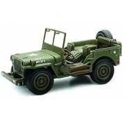 New Ray Jeep Willys 1:32 Scale Die Cast Model Car WW II Military US Army Vehicle