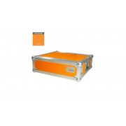 """AWEO 3 HE Amp Rack 19"""" Double Door 45 CM Flightcase orange"""