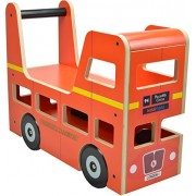 Kiddimoto 2itv001 - Walker e Ride-On Toy Original London Bus per 12 - 24 mesi