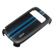 Husa capac spate Nokia CC-3012 negru+albastru pentru Nokia E6-00