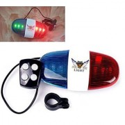 XC-325 LED Bike Bell Bicycle 6 LED Light 4 Sounds Trumpet Cycling Horn Red Blue Flash Lighting Warning with Lights