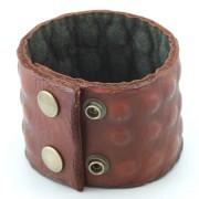 Bratara Barbateasca Lata din Piele Maro BFL-683