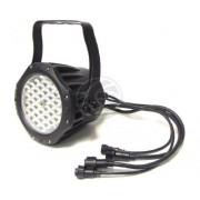 FOCO PAR64 DE 36 LED DE 1W NEGRO IP65